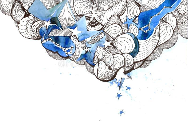 Estrelas ilustração royalty free