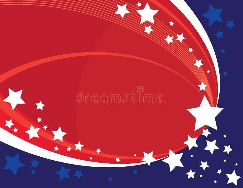 Estrelas americanas ilustração stock