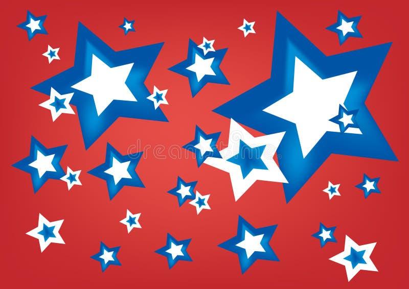 Estrelas americanas ilustração do vetor