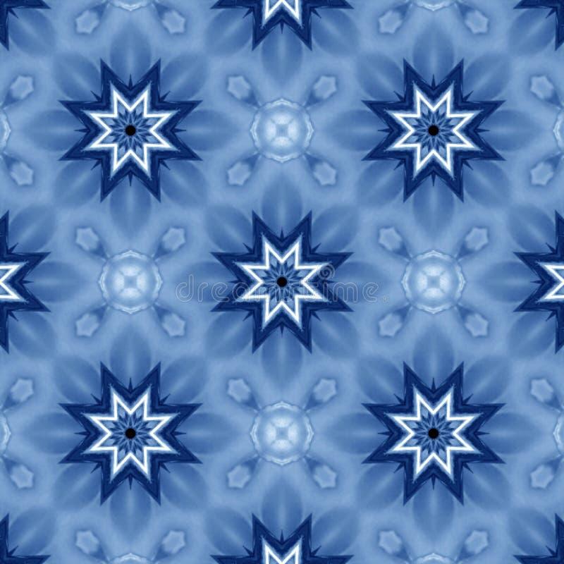 Estrelas azuis ilustração royalty free