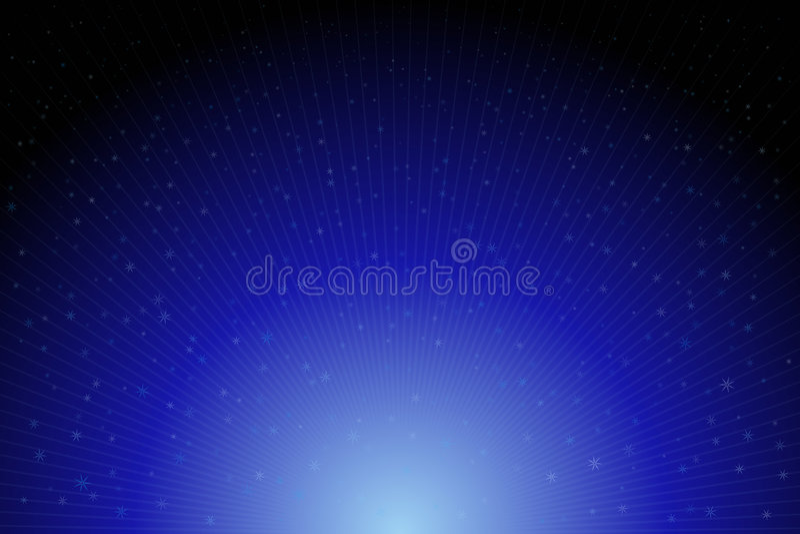 Estrelas azuis ilustração do vetor