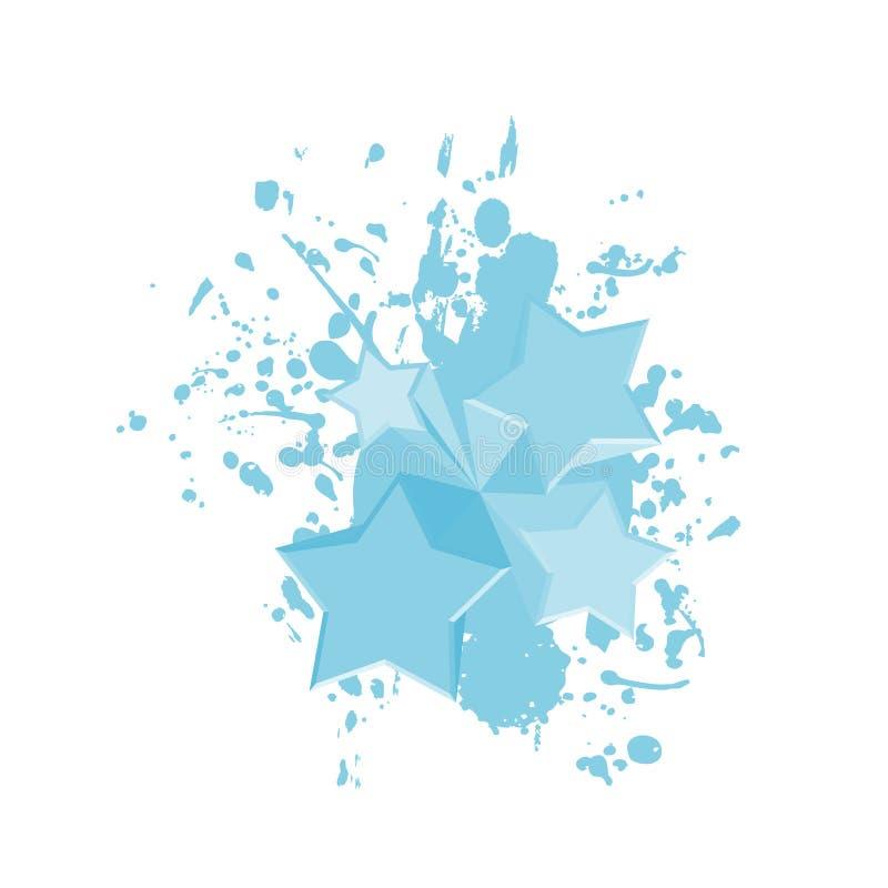 Download Estrelas Azuis Da Pintura Da Arte Ilustração do Vetor - Ilustração de original, gráfico: 80102076