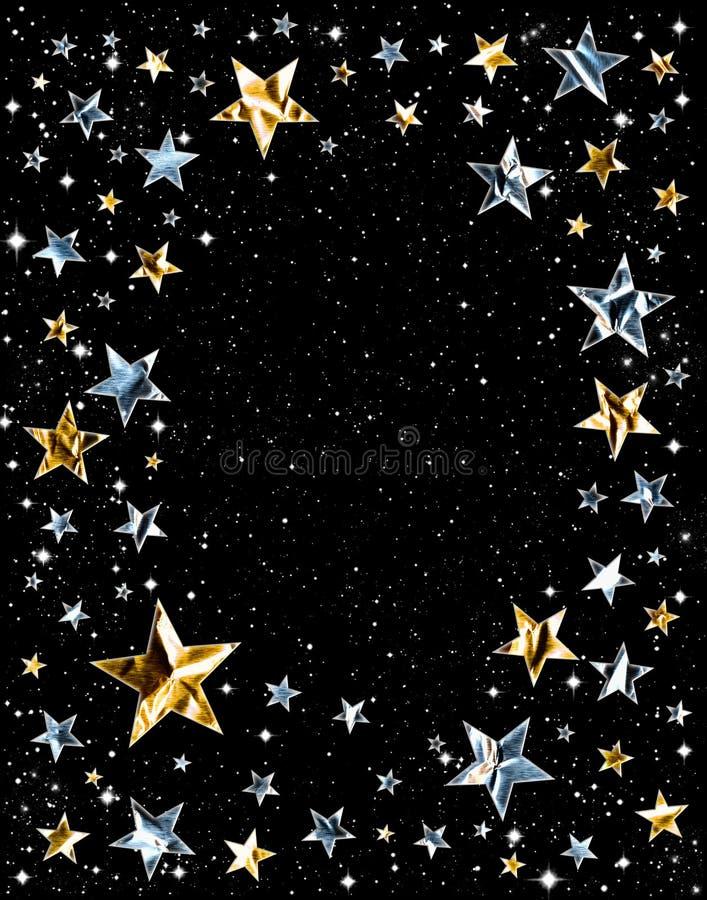 Estrelas brilhantes do espaço ilustração do vetor