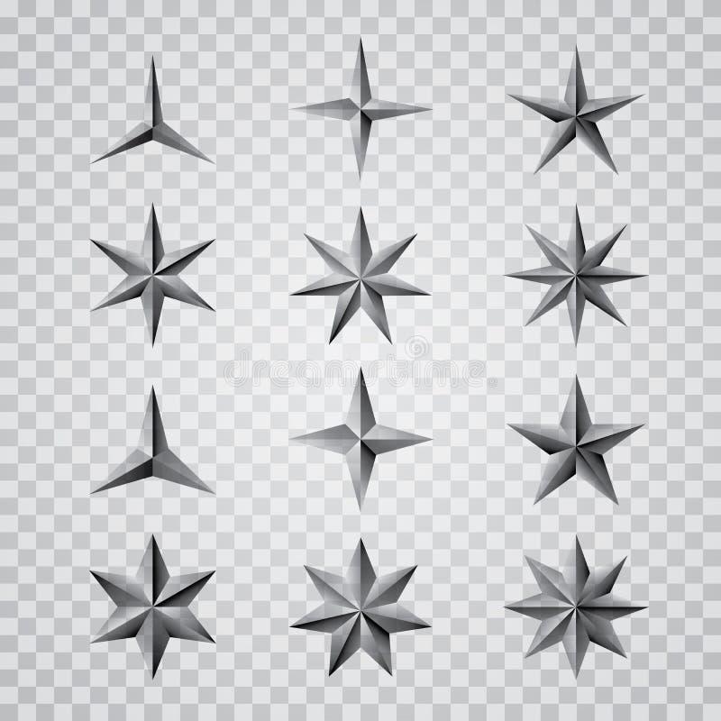 Estrelas cinzentas do transporte ilustração do vetor