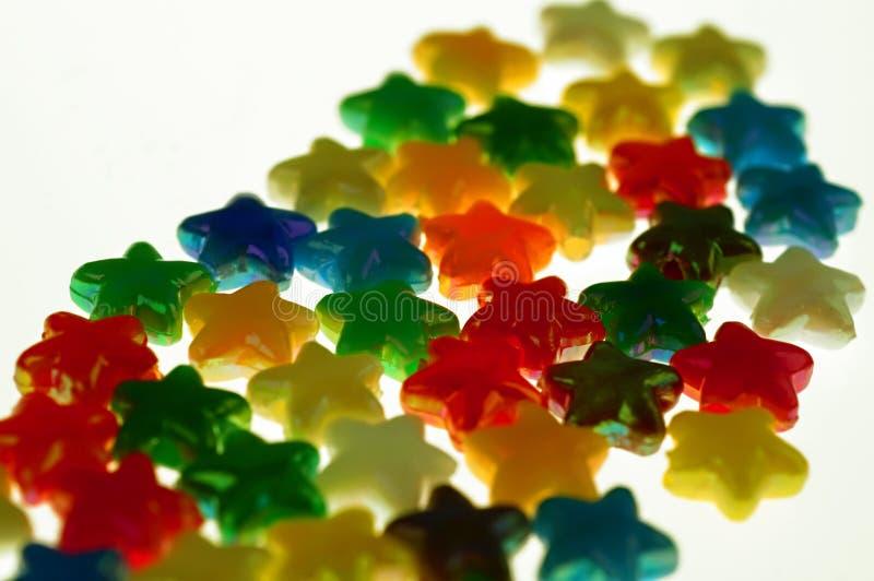 Estrelas coloridas fotografia de stock royalty free