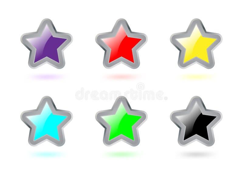 Estrelas coloridas ilustração do vetor