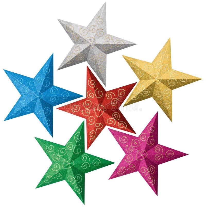 Estrelas coloridas do Natal ilustração royalty free