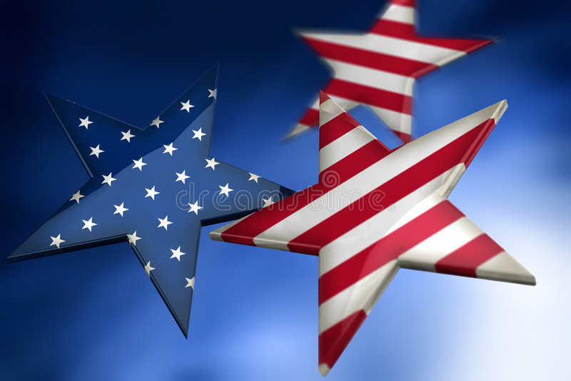 Estrelas como a bandeira americana ilustração stock
