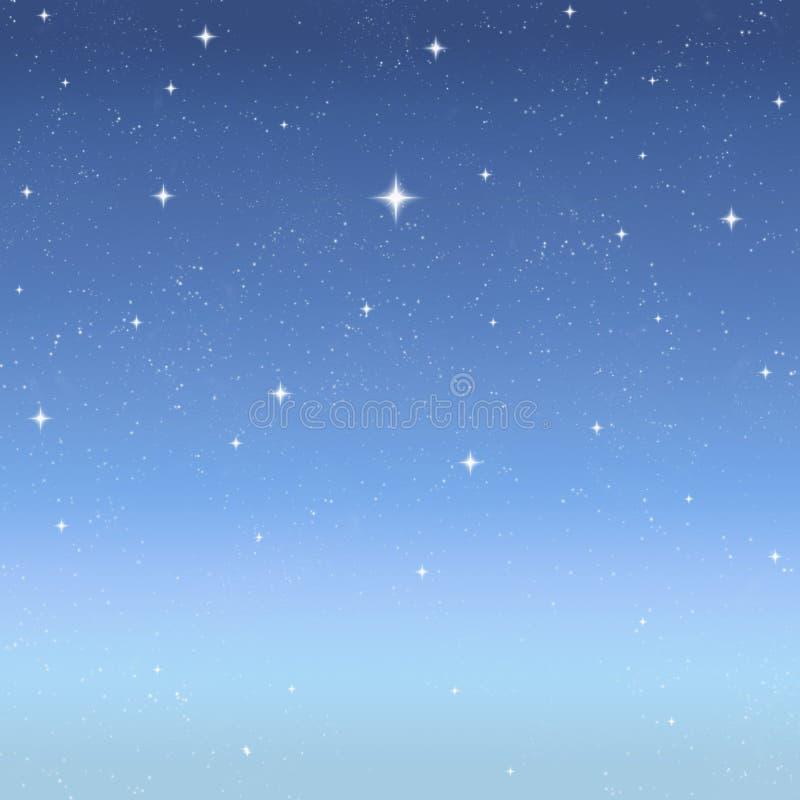 Estrelas crepusculares no céu estrelado ilustração royalty free