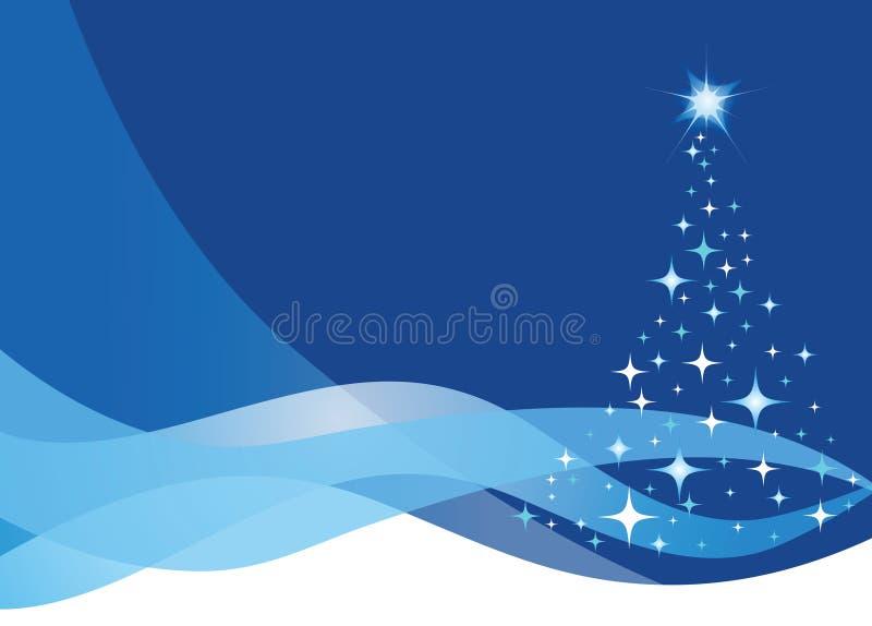 Estrelas da árvore de Natal ilustração royalty free