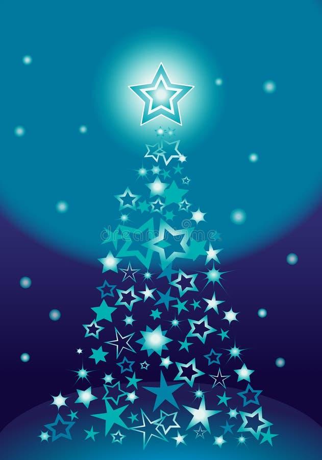 Estrelas da árvore de Natal ilustração do vetor
