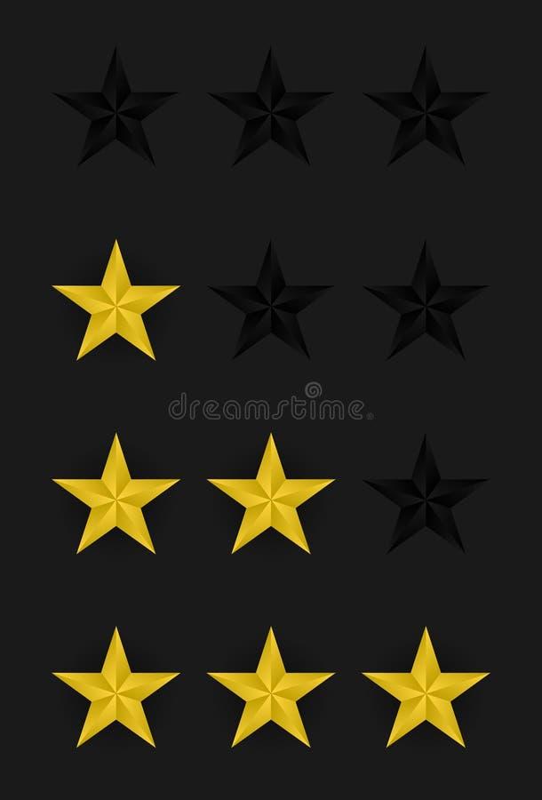 Estrelas da avaliação do vetor ilustração royalty free