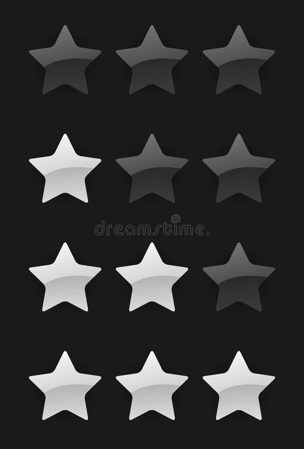 Estrelas da avaliação do vetor ilustração stock
