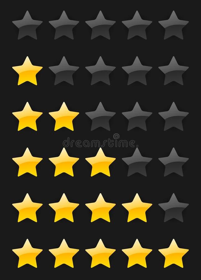 Estrelas da avaliação do vetor ilustração do vetor
