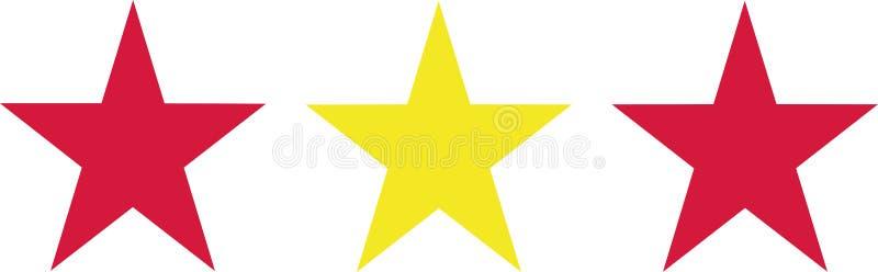 Estrelas da bandeira da Espanha ilustração royalty free