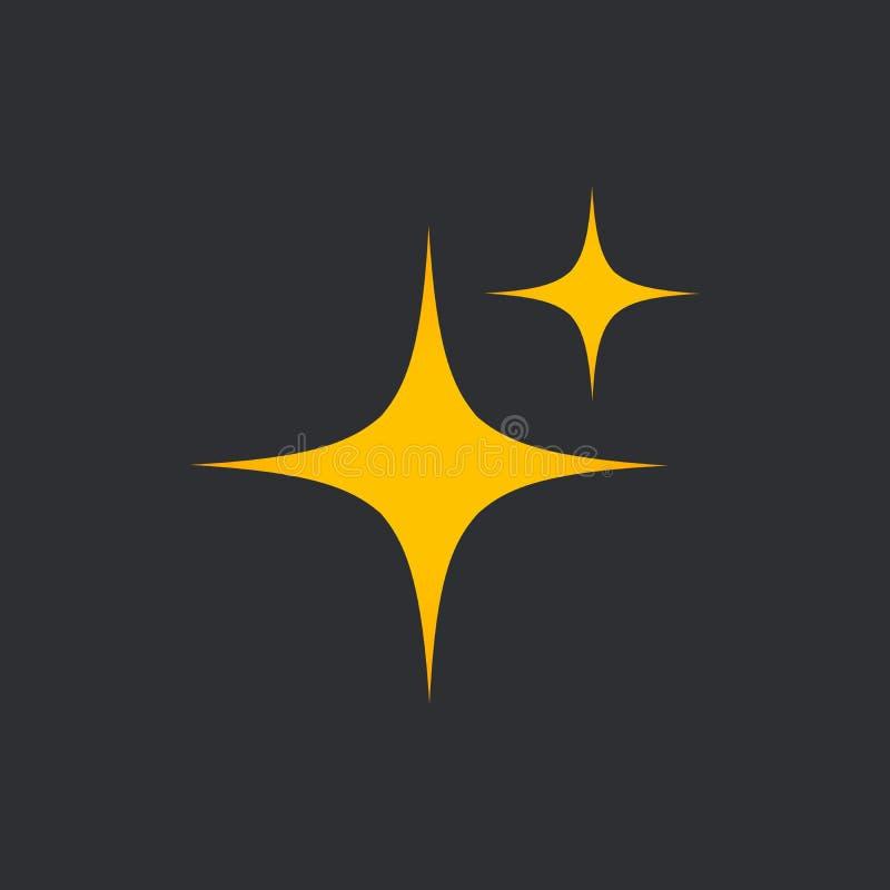 Estrelas da luminosidade e do esplendor da limpeza e do frescor Limpando, brilho fresco na casa Ilustração do vetor isolada na ilustração stock