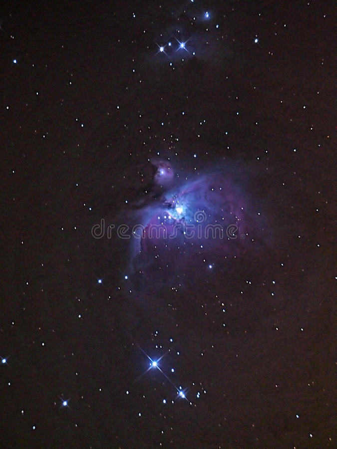 Estrelas da nebulosa e do universo de Orion imagem de stock royalty free