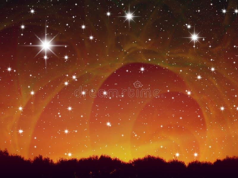 Estrelas da noite ilustração stock