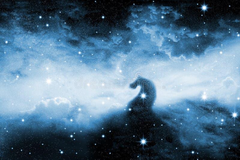 Estrelas da noite ilustração do vetor