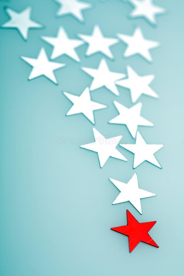 Estrelas das decorações da árvore de Natal fotos de stock