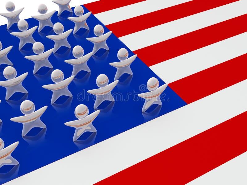 Estrelas de Estados Unidos ilustração do vetor