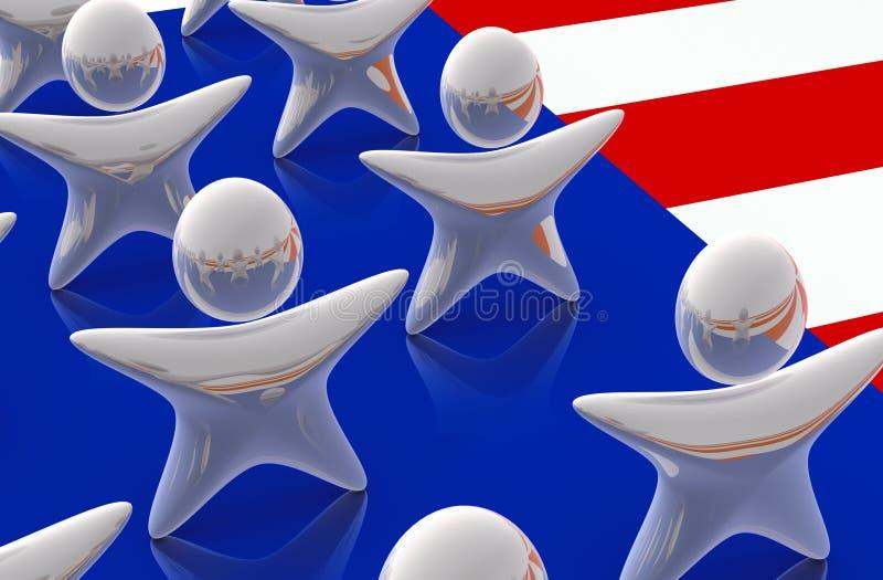 Estrelas de Estados Unidos ilustração stock