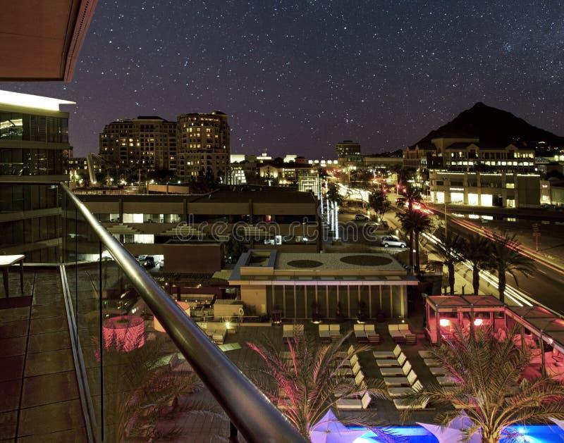 Estrelas de noite do deserto imagem de stock