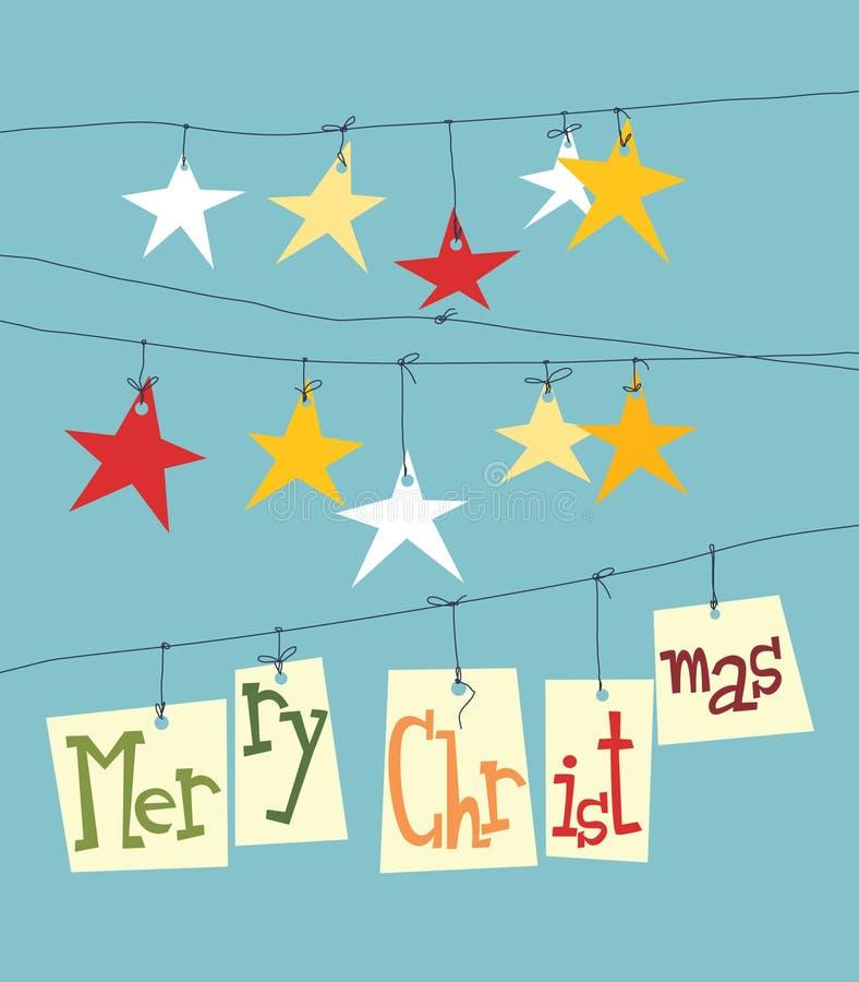 Estrelas de papel do Natal ilustração royalty free
