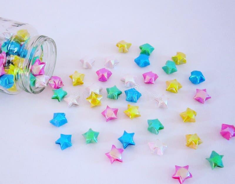 Estrelas de papel stock photography