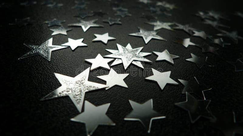 estrelas de prata imagem de stock royalty free