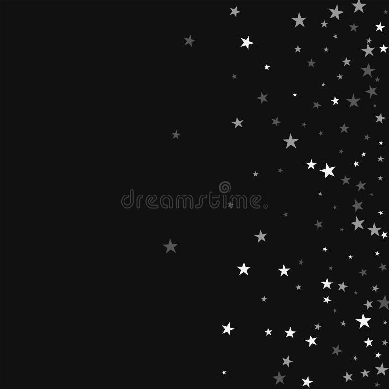 Estrelas de queda aleatórias ilustração do vetor