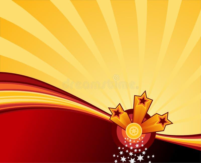Estrelas de Swooshing ilustração stock