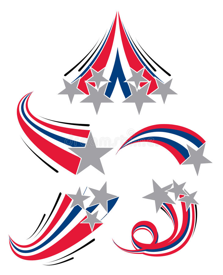 Estrelas de tiro ilustração do vetor