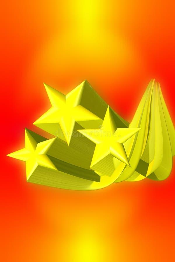 Download Estrelas De Tiro Com Fuga 3D Ilustração Stock - Ilustração de vôo, zumbir: 538700
