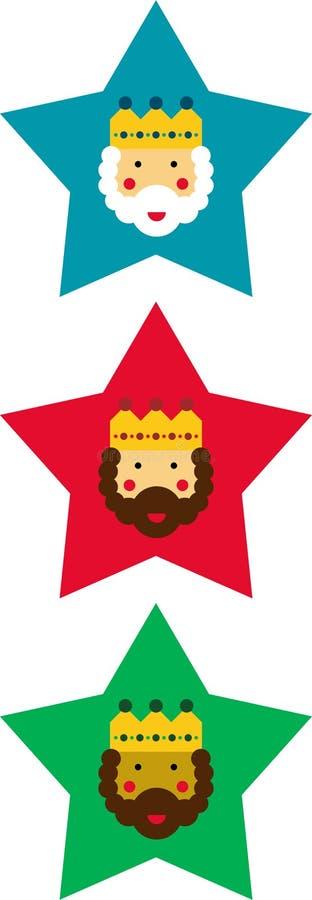 Estrelas decorativas do Natal ilustração royalty free