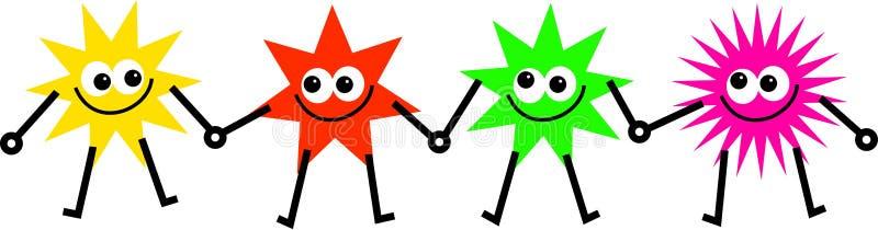 Estrelas diversas ilustração stock