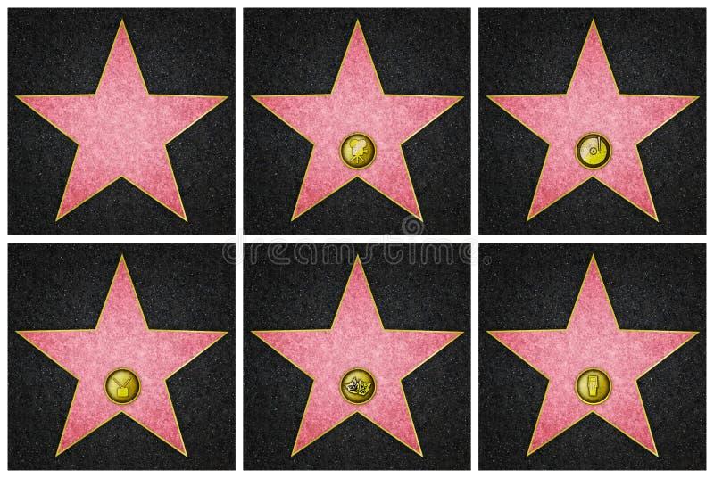Estrelas do bulevar de Hollywood ilustração royalty free