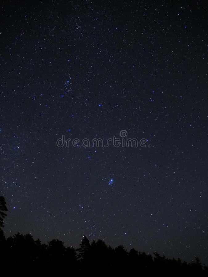 Estrelas do céu noturno foto de stock