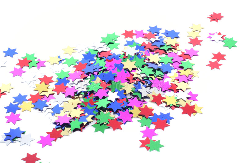 Estrelas do Confetti fotografia de stock