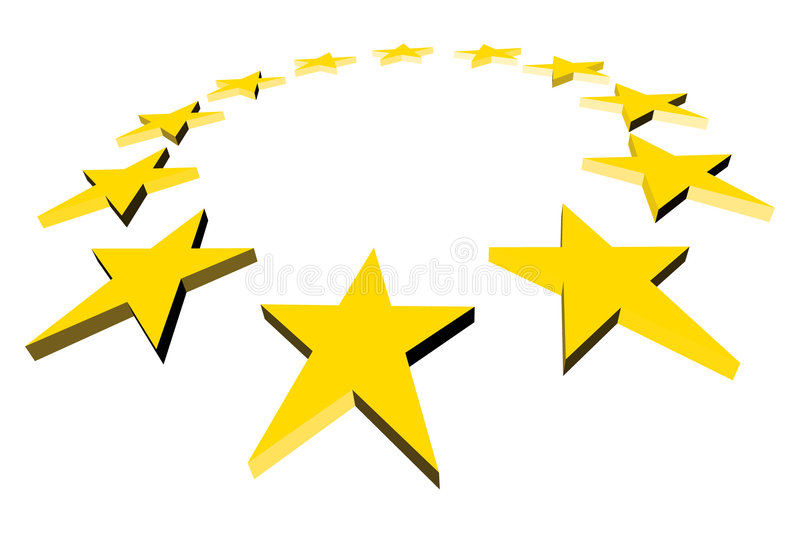 Estrelas do Europa ilustração do vetor