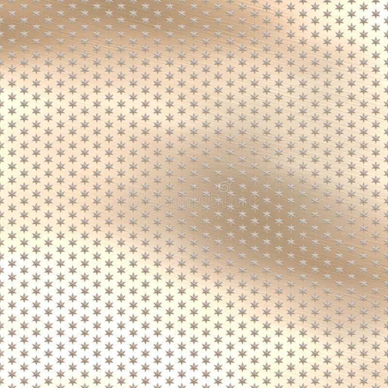 Estrelas do metal ilustração do vetor