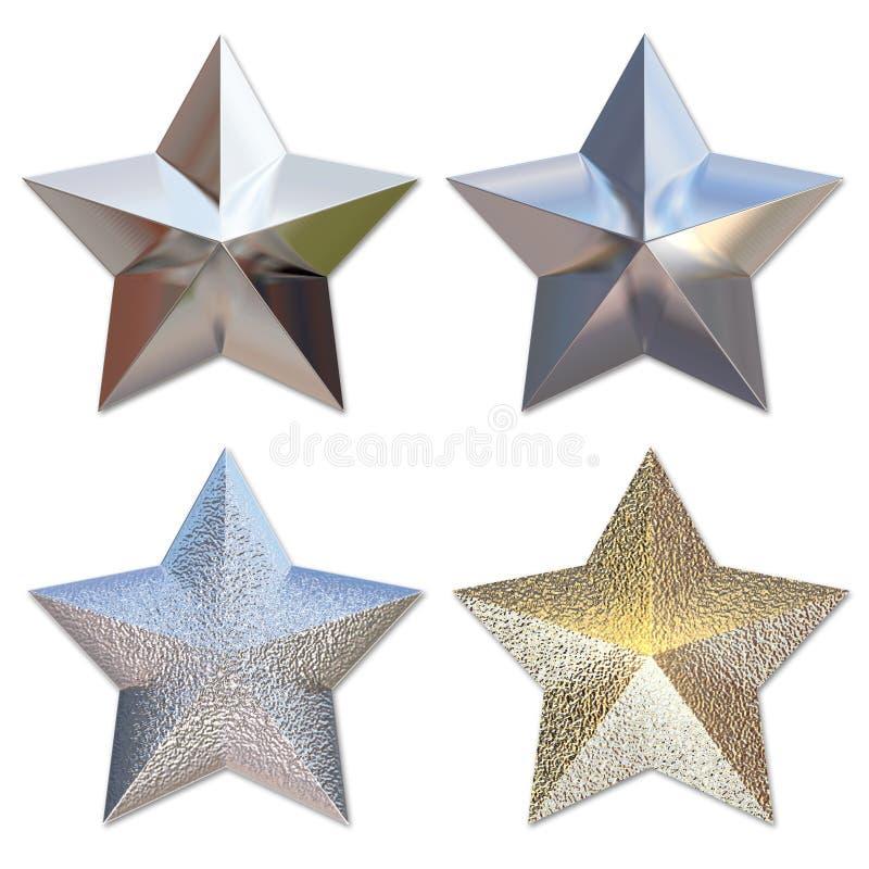 Estrelas do metal ilustração stock