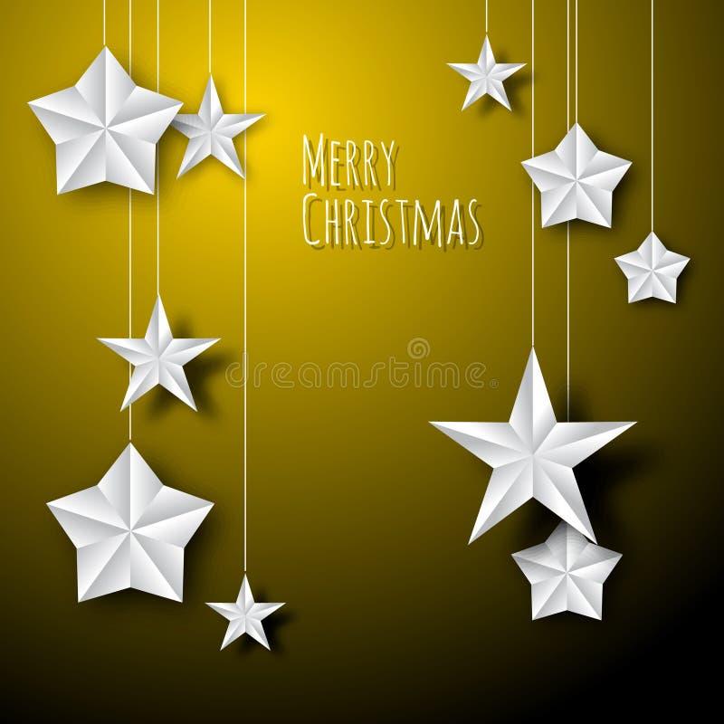 Estrelas do Natal do Livro Branco do vetor ilustração royalty free