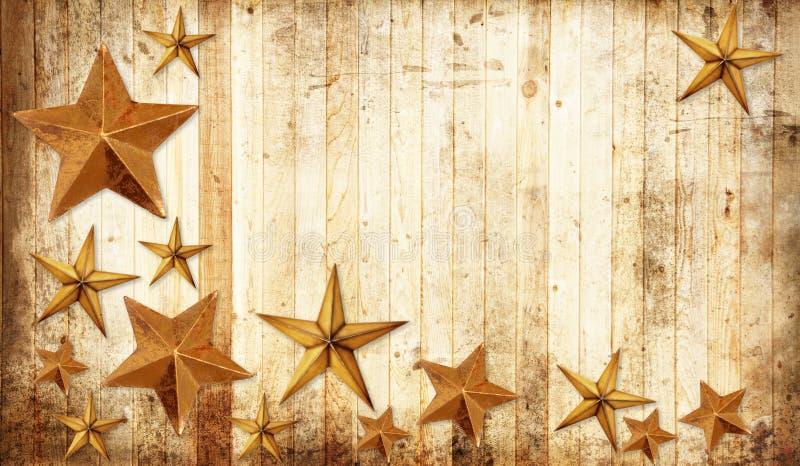 Estrelas do Natal do país imagens de stock
