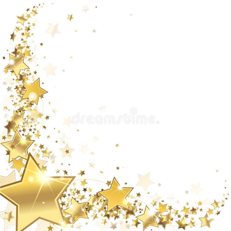 Estrelas do ouro do quadro ilustração royalty free