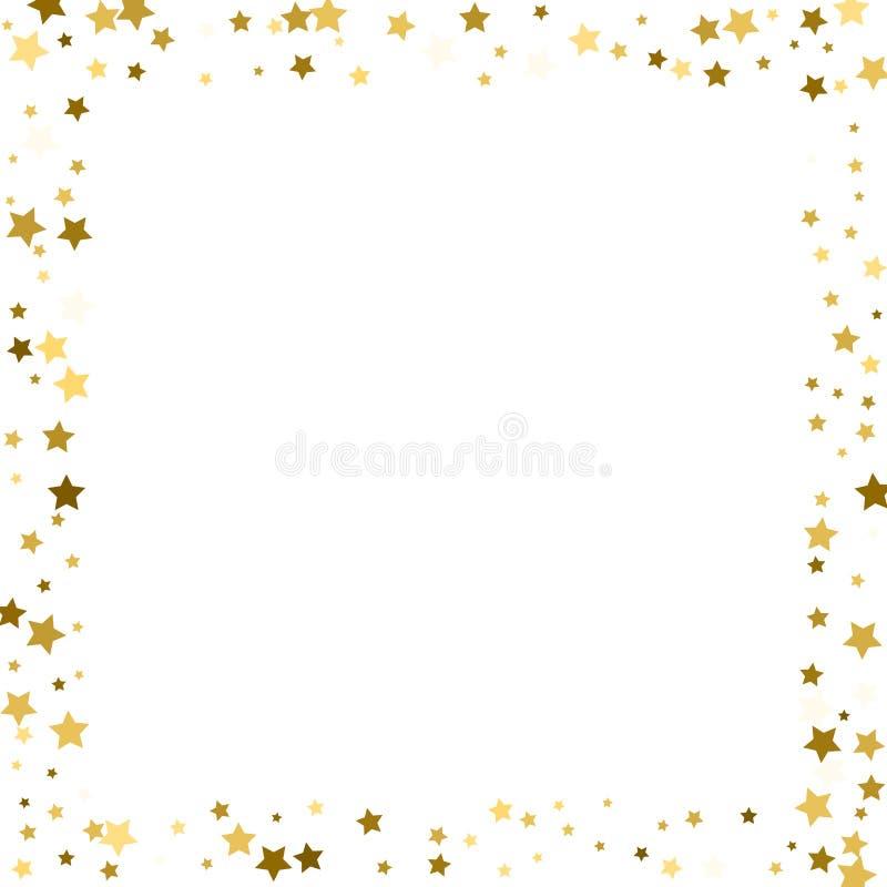 Estrelas do ouro do quadro em um fundo branco ilustração stock