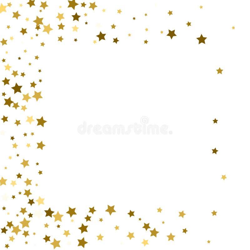 Estrelas do ouro do quadro em um fundo branco ilustração do vetor