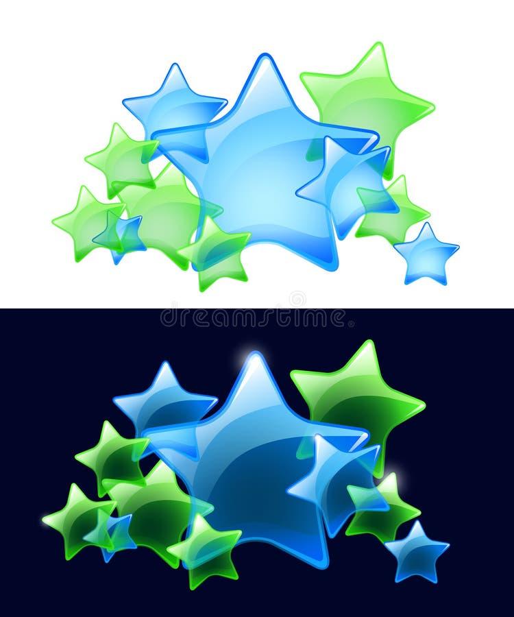 Estrelas do vetor com transparência/uso fácil ilustração do vetor