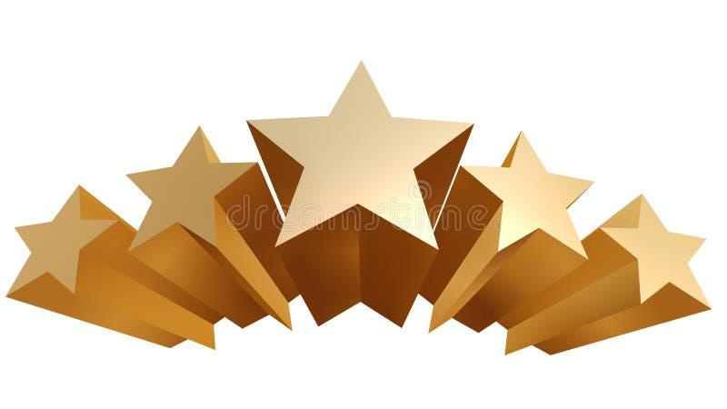 Estrelas douradas ilustração stock