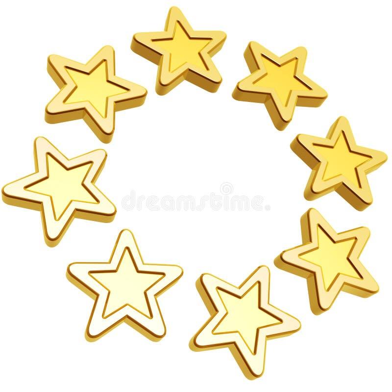 Estrelas douradas ilustração do vetor